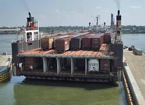 CG Train Ferry - rear view