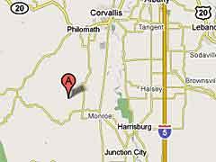 Sawmill location map