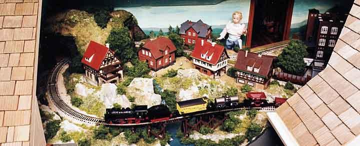 Victorian dollhouse railway