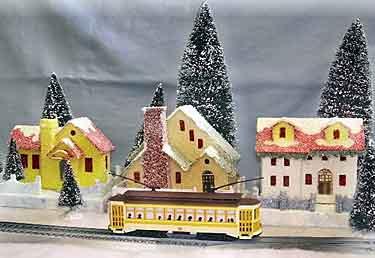 Xmas houses scenery