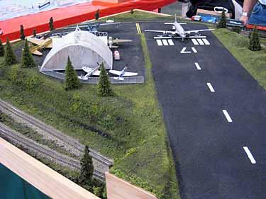 Model airport runway