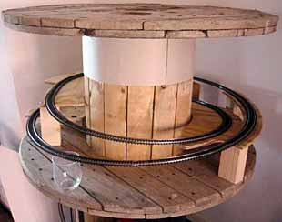 Layout in a cable reel