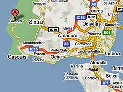 Map of Colares, Portugal
