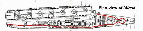 Deck plan of the Minsk