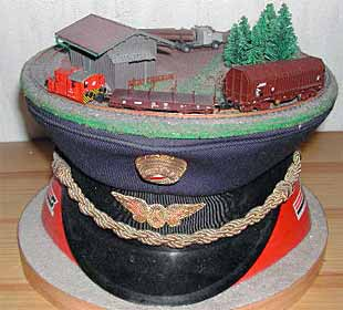 RR on a railwayman's hat