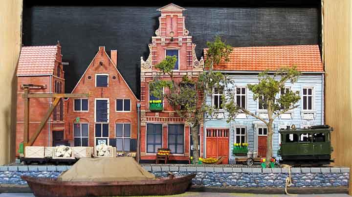 Dutch canal layout panorama