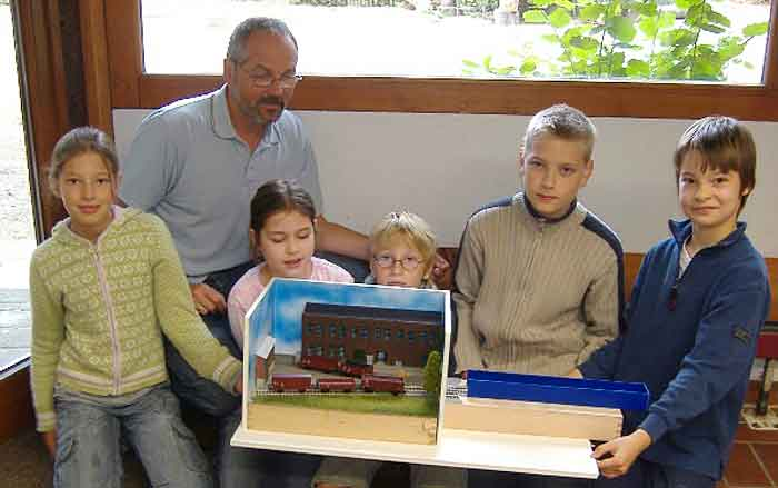 German students with their layout