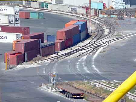 Port trackage at Livorno