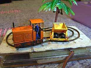 A calling-card sized railway