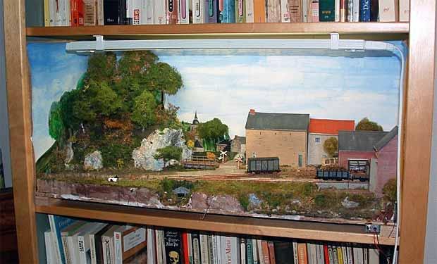 Mwinni bookcase railway
