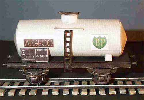 Paper train car