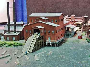 Sawmill lumber tram