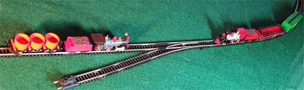 Passing trains with one short siding