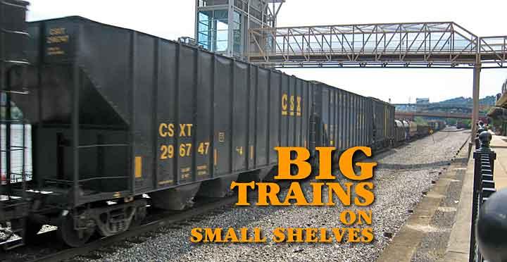BIG TRAINS ON SMALL SHELVES