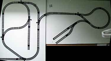 Dollar-store train layout