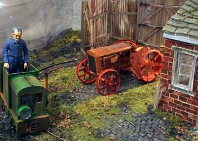 Paper tractor model