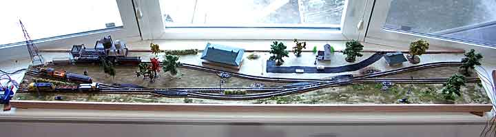 Z Scale in a Windowsill